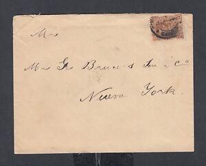VENEZUELA 1890 25C RATE COVER CARACAS TO NEW YORK USA