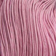 Lot de 10M de FIL de Coton Ciré 1mm ROSE CLAIR sautoir bracelet colliers *C40