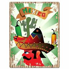 PP0585 MEXICO Plate Sign Bar Shop Cafe Home Kitchen Restaurant Interior Decor