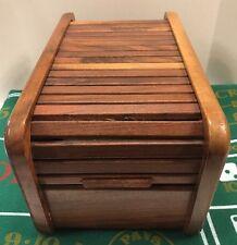 Kalmar Designs Danish Modern Teak Wood Storage Accordion Cover Box 12 x 6 x 7