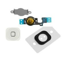 Home Menu Button Key Cap + Flex Cable + Bracket Holder for Apple iPhone 5C White