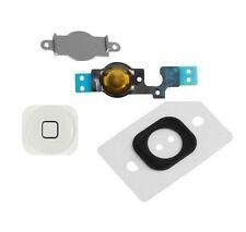 Home Menu Button Key Cap + Flex Cable + Bracket Holder for Apple iPhone 5C White