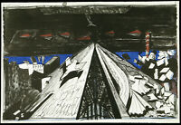 DDR-Kunst, 1980. Grosse Lithogr. Claus WEIDENSDORFER (1931-2020 D), handsigniert