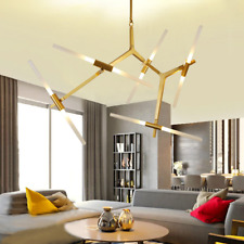 Modern Metal Chandelier 10-Light Glass Tree Branch Pendant Lamp Ceiling Fixtures