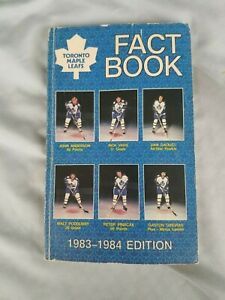1983/84 Toronto Maple Leafs NHL Fact Book - Media GUIDE