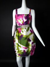 DOLCE & GABBANA- Multi Color Silk Printed Sun Dress, Size-4