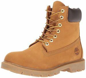 "Timberland Men's 6"" Basic Contrast Collar Boot, Wheat Nubuck, Size 8.5 ij0O"