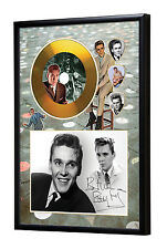 Billy Fury Gold Vinyl Look CD, Autograph & Plectrum Display Gene Vincent/Cochran