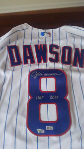 Andre Dawson Chicago Cubs Signed White Majestic Authentic Jersey & HOF 2010 Insc