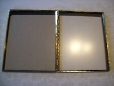 Vintage Bifold 8X10 Ornate Gold Metal Picture Frames Non Glare Glass Almost Perf