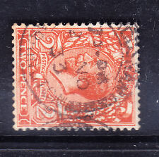 GB 1926 GV SG421b 2d orange die II s'ways wmk block cypher - fine used. Cat £100