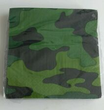 Army Napkins - Beverage Napkins - Camouflage - Free Post - 16 - 2 Ply