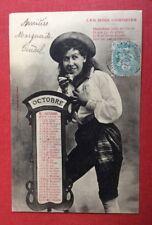 CPA. LES MOIS COMIQUES. OCTOBRE 1906?. Bergeret . Jeune Fille. Brioche.