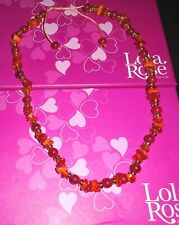 LOLA ROSE ROXIE CARMINE RED QUARTZITE FIRE & TROPICAL ORANGE 46CM NECKLACE  QVC