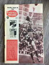 1976 VFL AFL football record Richmond Tigers V St Kilda Saints August 28