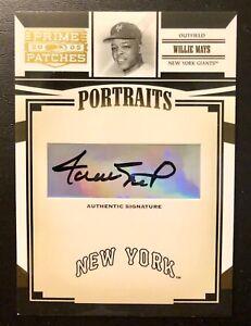 Willie Mays 2005 Donruss Authentic Signature Autograph! Beautiful Bold Auto!!!