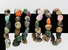 Assorted Mixed Tumbled Gemstone Bracelet 6-8 mm stones (Stretchy - US Seller)