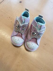 Skechers Baby Girl's Twinkle Toes Light up Trainers Size 4 Infant (EU 21)