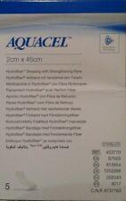 AQUACEL( pack of 5 )Hydrofiber wound dressing strengthening Fibre 2cm x 45cm .