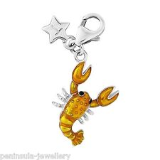 Tingle Sterling Silver Charm clip on Lobster with Gift Box and Bag SCH289