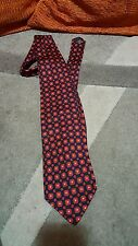 Cravatta YvesSaintLaurent  tie necktie silk made in Italy  YSL RED AND BLUE