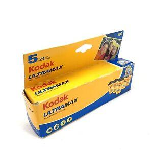 Kodak Max Versatility 400 Color Film 35mm 5 Roll Pack 24 Exposure Sealed Expired
