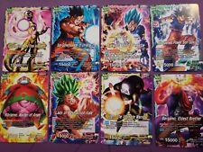 Dragon Ball Super Tournament of Power lot of 8 Leader cards Kale, Goku, Jiren..