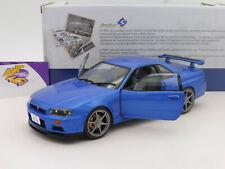 """Solido S1804301 # Nissan Skyline GT-R (R34) Baujahr 1999 """" bayside blau """" 1:18"""
