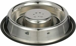 Neater Pet Brands | Slow Feed Bowl Stainless Steel Metal Non Tip Style