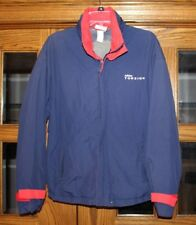 ADIDAS TORSION Spellout Vintage Jacket Men's Size M Full Zip Navy Blue Red EUC