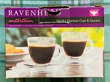 Ravenhead 'entertain' Set of 2 Espresso Cups & Saucers