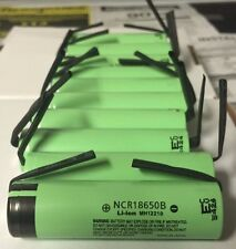 """Brand New """"10"""" Panasonic 18650 NCR18650B 3400mah Rechargeable Battery, with Tabs"""