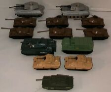 VTG Lot Of 12 Diecast Military Vehicles Tanks Matchbox 80s 90s GI Joe Hasbro