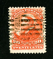 Canada Stamps # 46 VF Used. Scott Value $125.00