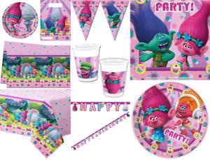 TROLLS Birthday Party Supplies Tableware Decoration TROLL Plate Cups Decoration