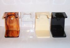 Acrylic Shave Brush Stand -  Wall or Sink Top Mount  - Your choice of 4 Colors