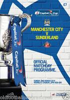 2014 CAPITAL ONE CUP FINAL PROGRAMME *(SUNDERLAND V MANCHESTER CITY)*