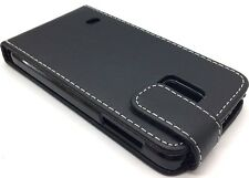 Black Protective Leather Flip Case Cover for Samsung Galaxy S5 Mini SM-G800F