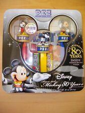 """boite métal collector Disney distributeur PEZ """"les 80 ans de Mickey"""""""