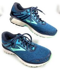 Brooks Adrenaline GTS 18 Athletic Road Running Shoes Blue Mint Green Womens 8.5M