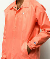 Champion West Papaya Coaches Breaker Jacket Peach Msrp $65 A