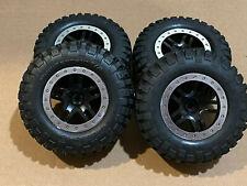 Traxxas Slash 2wd B.F. Goodrich Mud Terrain T/A KM2 Tires Set & Wheels 5883 5885