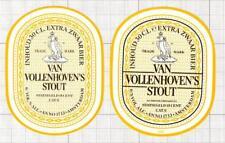 HOLLAND Heineken Nederland Van Vollenhoven Stout - 2 beer labels C1783 025