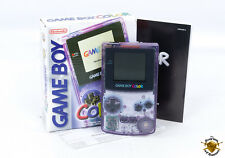 Nintendo Gameboy Color Atomic Purple Boxed - Retro Handheld Console PAL