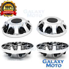 """11-17 Chevy Silverado DUALLY Chrome 17"""" 2x Front Wheel Center Hub Cap Cover"""
