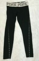 PINK Victoria's Secret Yoga Women's  Workkout  Leggings Black Bling Small