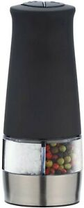 Wenko Electric Salt Pepper Spice Mill with LED Light 2 in 1 (Black ABS) FREEPOST