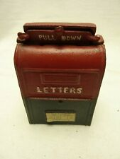 New ListingVintage Cast Iron Painted Post Office Mail Box Still Bank