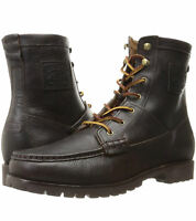 Brand New Men's Polo Ralph Lauren Rouland Ankle Bootie in Dark Brown Color