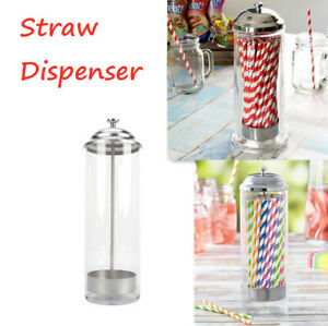 Retro Straw Dispenser Straw Holder Plastic Multi-purpose Storage Tube UK Stock